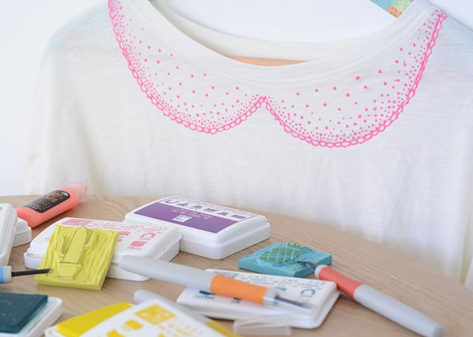 gravure de tampon et custo textile