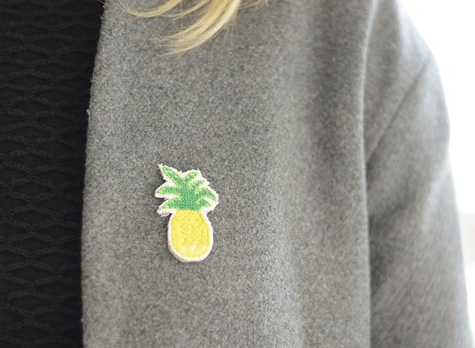 ananas brodé
