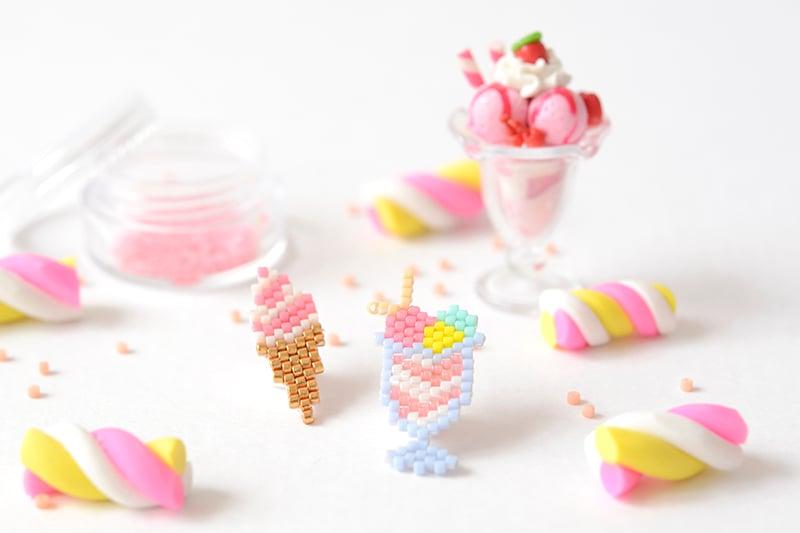 coupe glacee en perles miyuki ! - http://blog.la-petite-epicerie.fr/