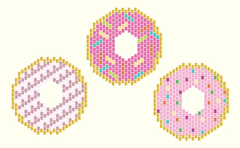 donuts en perles miyuki copie