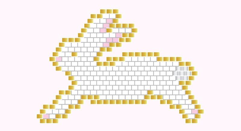 Diagramme de lapin en perles miyuki - #jenfiledesperlesetjassume