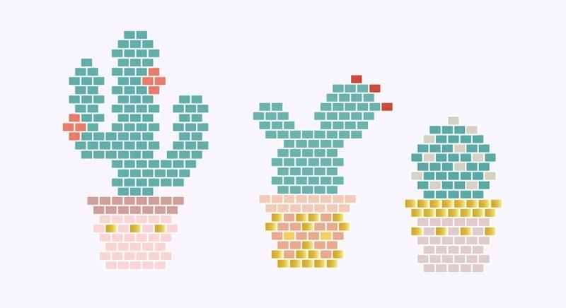 diagramme cactus en perles miyuki - http://blog.la-petite-epicerie.fr/
