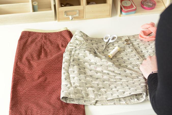 Couture jupe et short