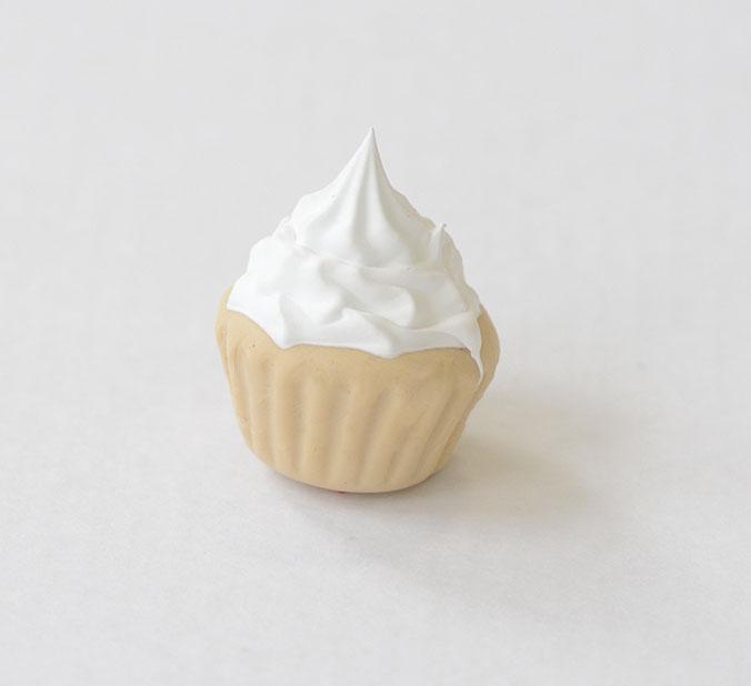 Cupcake-blanc deco 3d