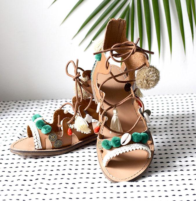 Sandales customisées c by clemence