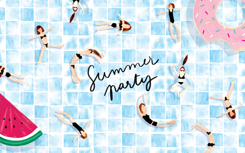 Fond d'écran téléchargeable Summer party