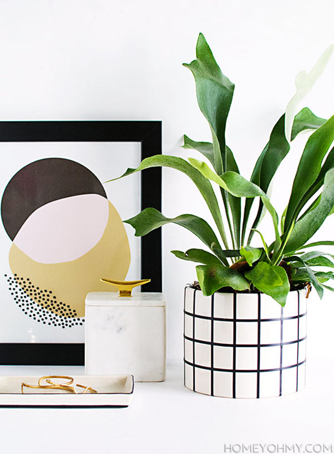 diy pot de plante graphique