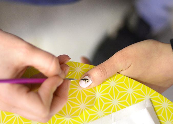 citrouille dorée en nail art