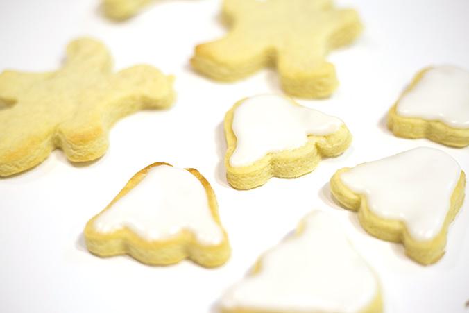 glaçage des biscuits sablés