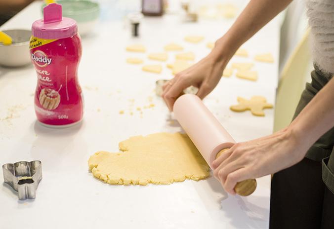 rouleau à pâtisserie, sablés