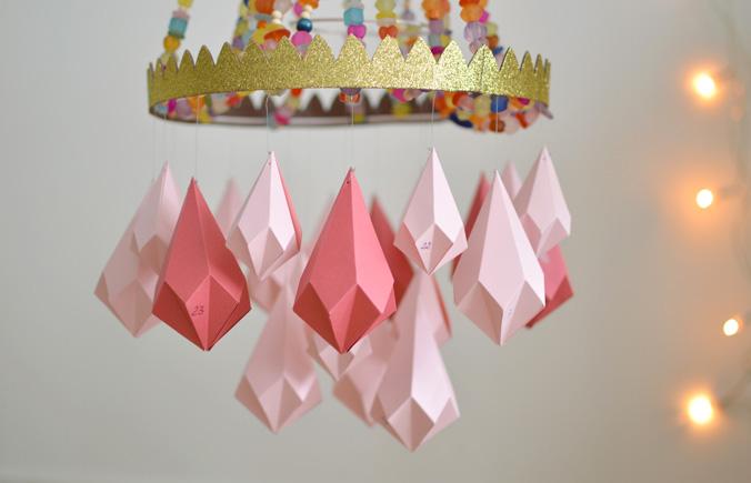 calendrier diamants roses