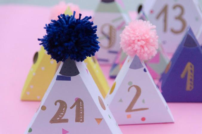 calendrier pop triangles