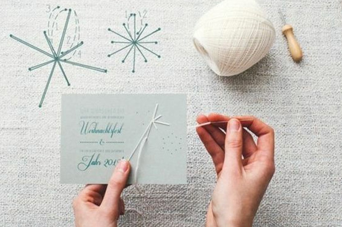 carte brodée DIY