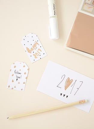 Cartes de voeux DIY