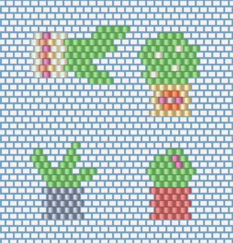 Diagrammes cactus miyuki