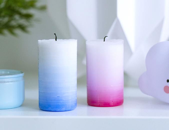 bougies dégradées