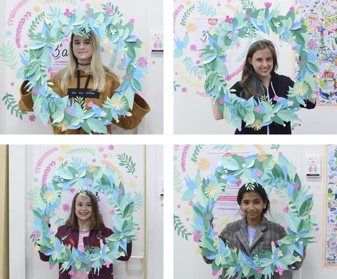Photobooth couronne de fleurs