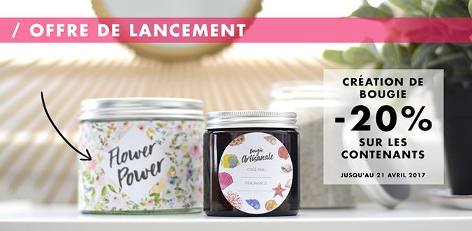 offre pots pour bougies en promo