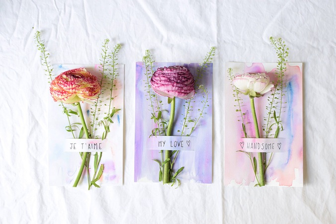 DIY CARTES FLEURIES