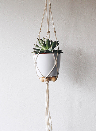 macramé suspension pour plante