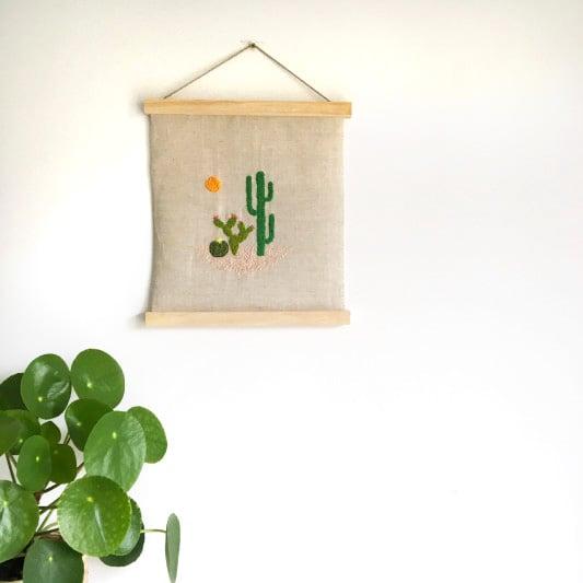 broderie cactus