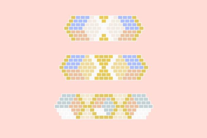 diagramme bracelets tissage