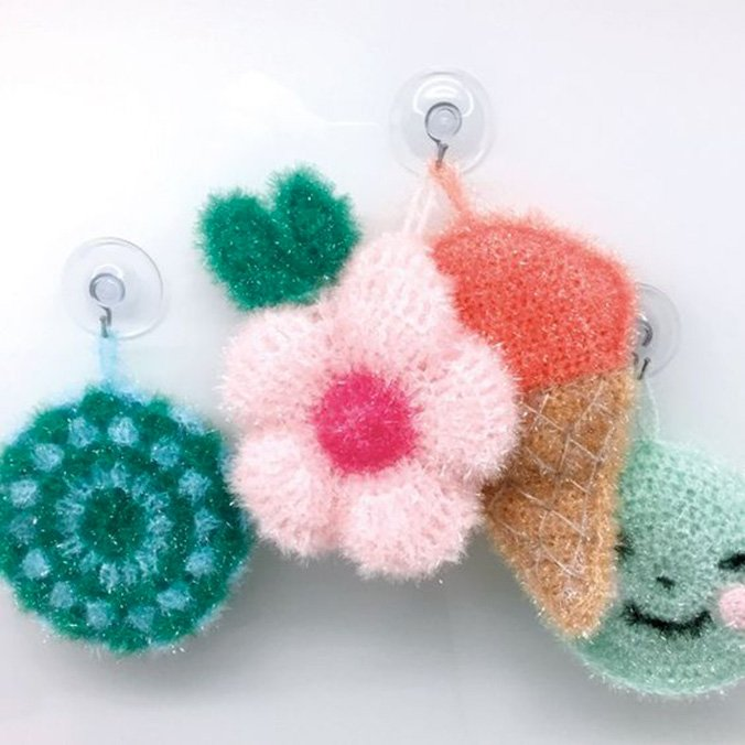 eponges à crocheter creatives bubble