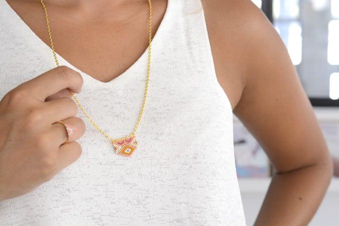 collier perles miyuki
