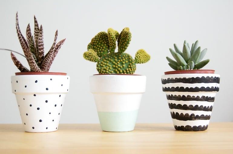 pots décorés DIY