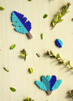 tissage brickstitch botanique