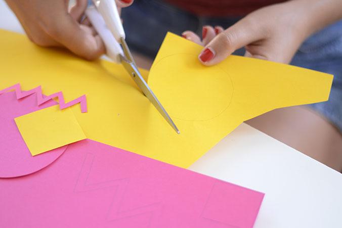 decoupe de formes en papier