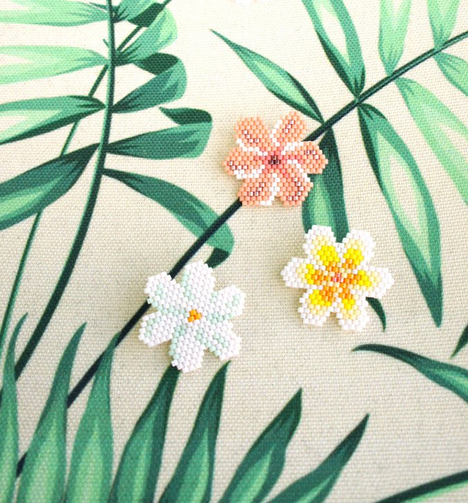 diagrammes fleurs miyuki