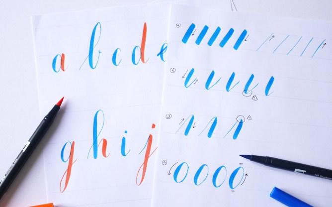alphabet calligraphique