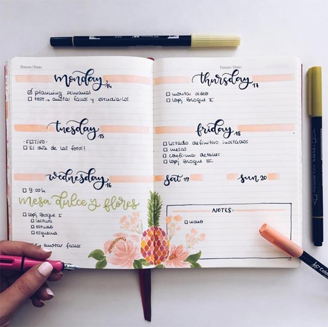 lettering bullet journal