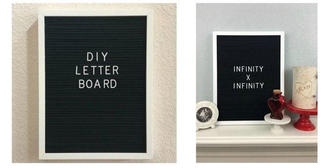 DIY-letter board