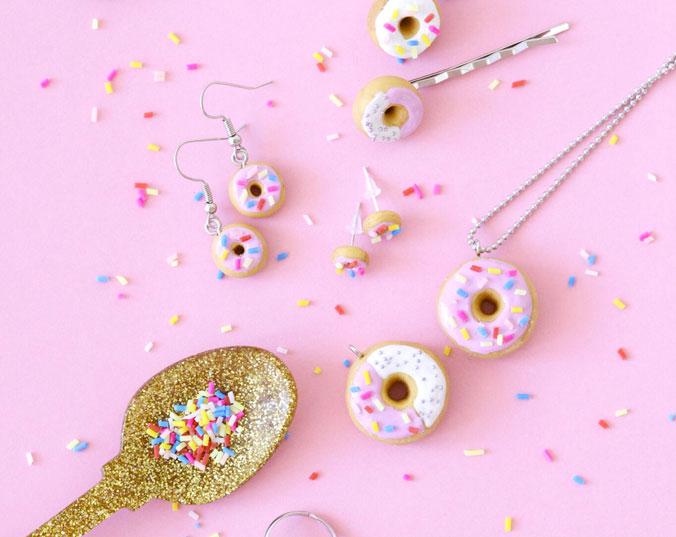 kit bijoux fimo donuts