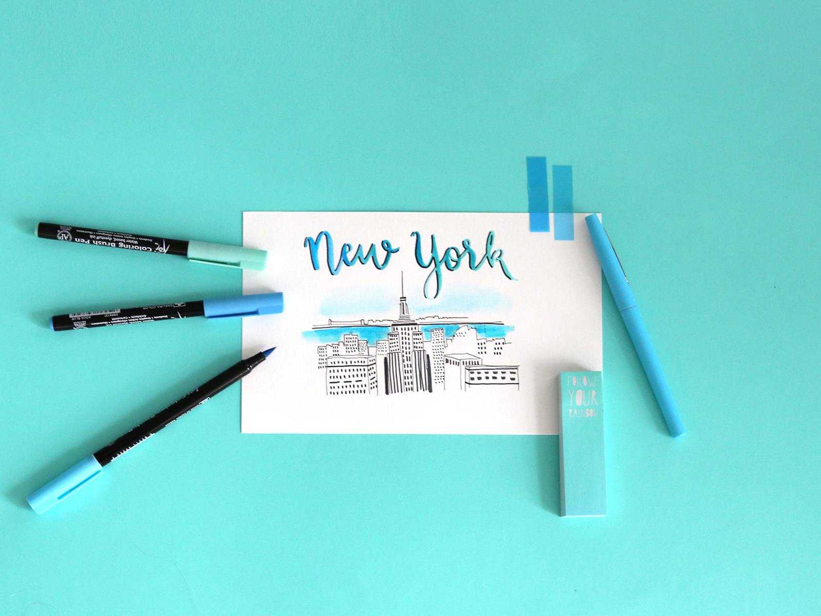 fond decran new york bleu