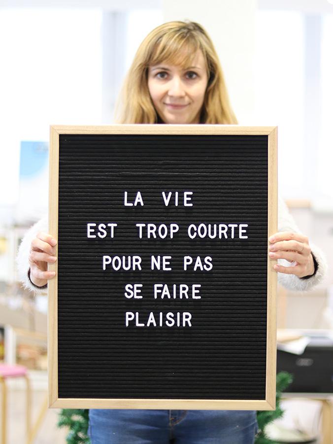 letter board pour noel