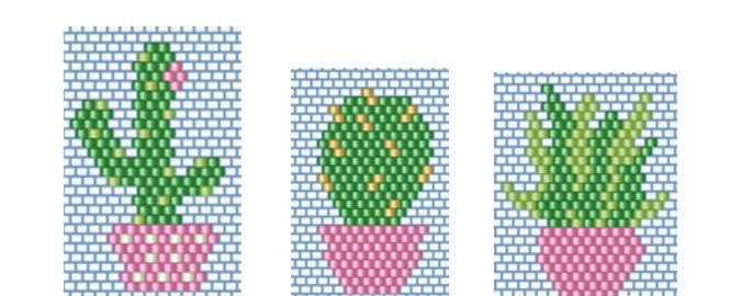 3diagrammes-cactus-pot-rose-pink-green-miyuki