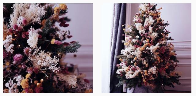 Sapin en fleurs séchéesées Vanessa Pouzet