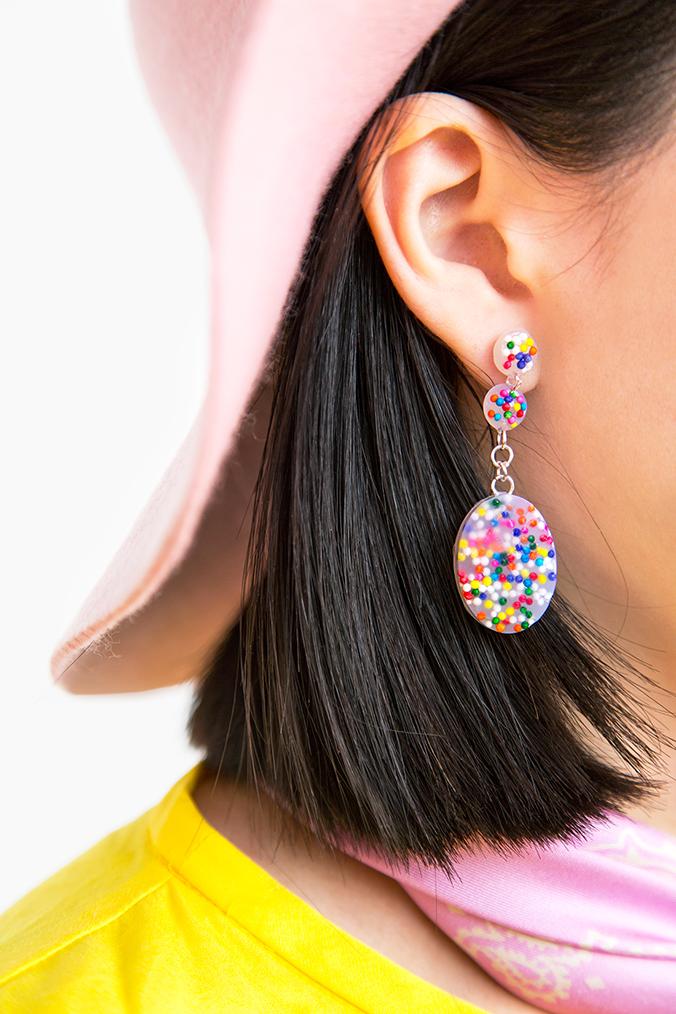 diy boucles d'oreilles colorées