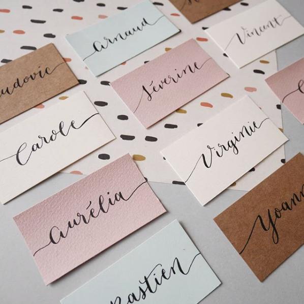 calligraphique lettering